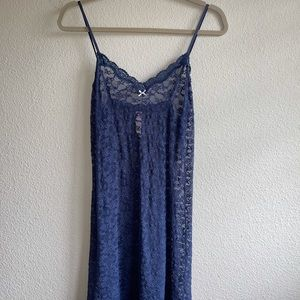 Victoria Secret Blue Lace Chemise